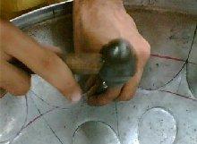 Making Steel Pan Step 4 - Grooving