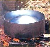 Making Steel Pan Step 7 - Burning