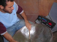 Making Steel Pan Step 8 - Tuning